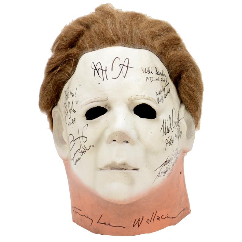 Lot Detail - Halloween 1978 Cast Autographed Michael Myers Mask