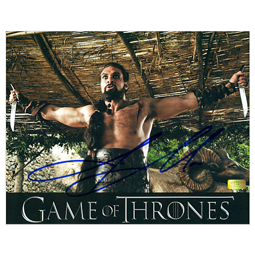 Jason Momoa Game Of Thrones: Jason Momoa Autographed 8×10 Game Of Thrones