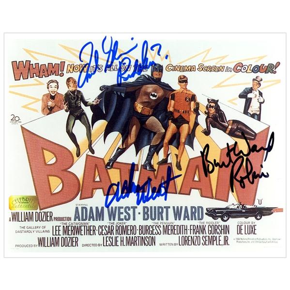 lot detail adam west burt ward and frank gorshin autographed 1966 batman the movie 8x10 poster. Black Bedroom Furniture Sets. Home Design Ideas