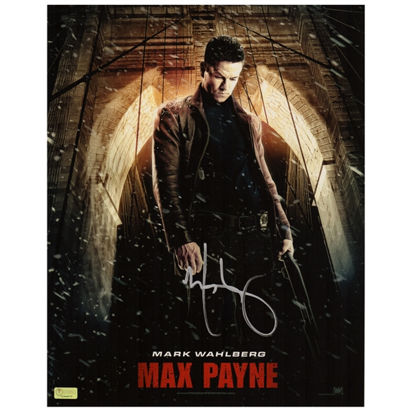 Lot Detail Mark Wahlberg Autographed 11 14 Max Payne Movie Poster