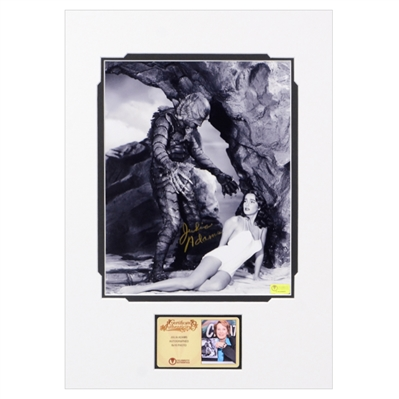 Julia Adams Autographed Creature from the Black Lagoon Matted 8x10 Photo