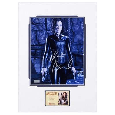 Kate Beckinsale Autographed Underworld Selene Death Dealer 8×10 Matted Photo
