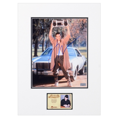 John Cusack Autographed 1989 Say Anything...Lloyd Dobler 8x10 Matted Scene Photo