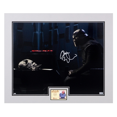 Adam Driver Autographed 2015 Star Wars: The Force Awakens Kylo Ren Destiny 16x20 Matted Scene Photo