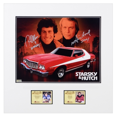 David Soul and Paul Michael Glaser Autographed Starsky and Hutch Tribute 11x14 Matted Photo