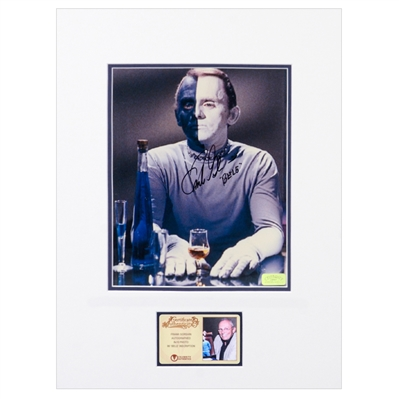 Frank Gorshin Autographed Star Trek Bele Matted 8x10 Photo with Bele Inscription