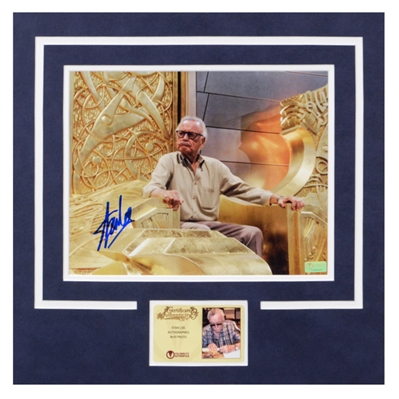 Stan Lee Autographed King of Asgard 8x10 Matted Photo