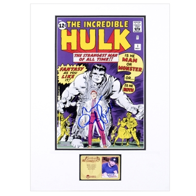 Mark Ruffalo Autographed The Incredible Hulk #1 Comic Cover 8×12 Matted Photo