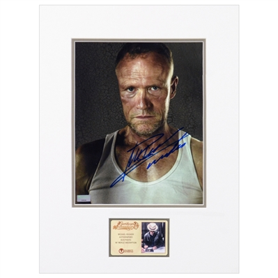 Michael Rooker Autographed The Walking Dead Merle 8x10 Matted Photo