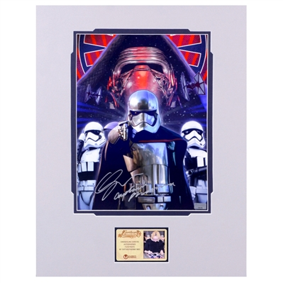 Gwendoline Christie Autographed Disney Exclusive Star Wars First Order Captain Phasma 11x15 Matted Photo with Captain Phasma Inscription