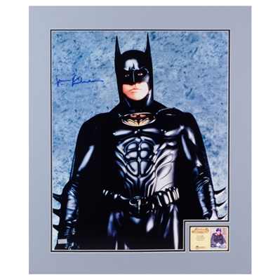 Val Kilmer Autographed 1995 Batman Forever 16x20 Matted Studio Photo