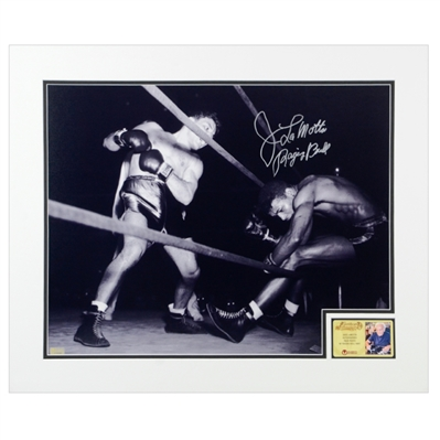 Jake Lamotta Autographed 16x20 Raging Bull Matted Photo