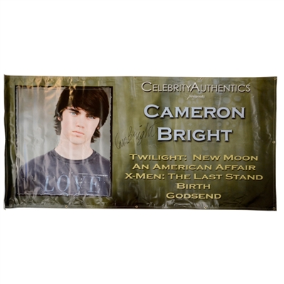 Cameron Bright Autographed 2009 Wizard World Chicago Show Banner