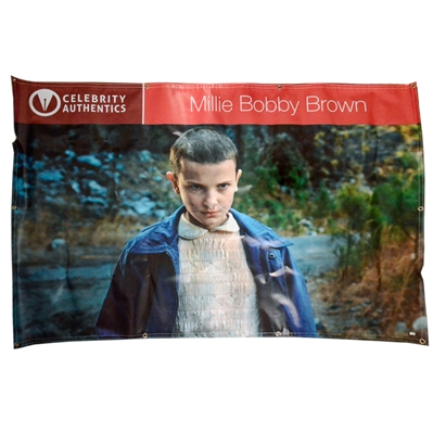 Millie Bobby Brown Autographed 2016 Rhode Island Comic Con Show Banner