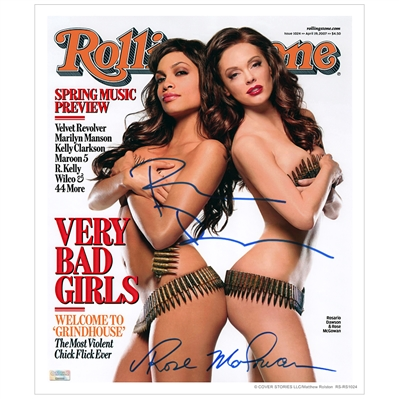 Rosario Dawson and Rose McGowan Autographed 11×13 Rolling Stone Cover Photo