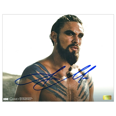 Jason Momoa Autographed 8×10 Game of Thrones Khal Close Up Photo