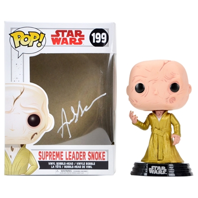 Andy Serkis Autographed Star Wars The Last Jedi Supreme Leader Snoke POP Vinyl