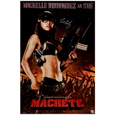 Michelle Rodriguez Autographed 2010 Machete She Single-Sided 24x36 Movie Poster