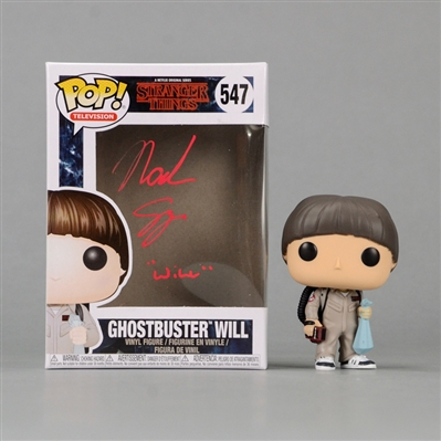 Noah Schnapp Autographed Stranger Things Ghostbuster Will POP Vinyl Figure #547