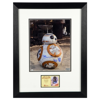 Brian Herring Autographed Star Wars: The Force Awakens BB-8 Framed 8x10 Photo