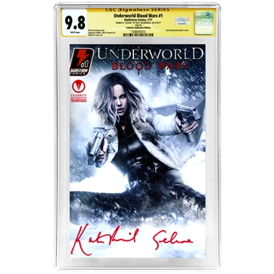 Kate Beckinsale Autographed Underworld Blood Wars #1 CGC Signature Series 9.8 (Mint) Celebrity Authentics Exclusive Variant Cover Comic