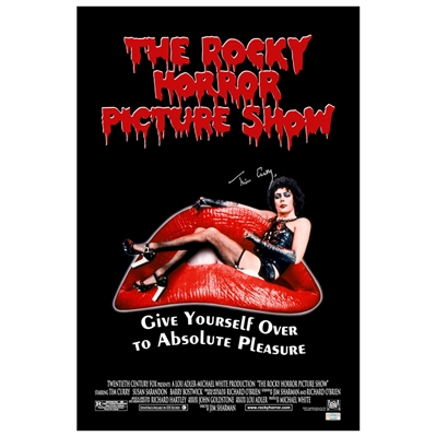 Tim Curry Autographed The Rocky Horror Picture Show 16x24 Poster