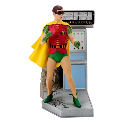 Burt Ward Autographed Batman 1966 Robin 1:6 Scale Maquette with Robin Inscription