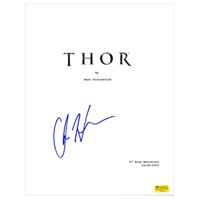 Chris Hemsworth Autographed 2011 Thor Script Cover