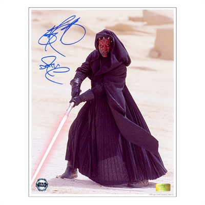 Ray Park Autographed 11×14 Darth Maul Metallic Photo