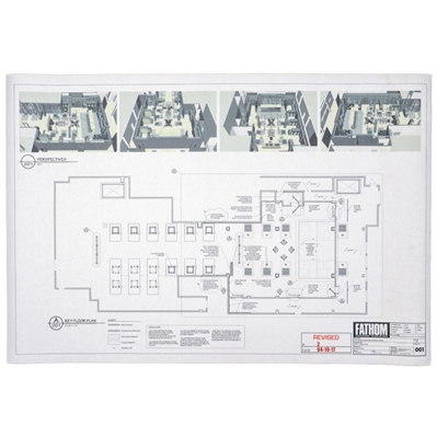 Fathom Godzilla: King of the Monsters Direct from the Set 24.5x36 Schematic- Key Floor Plan