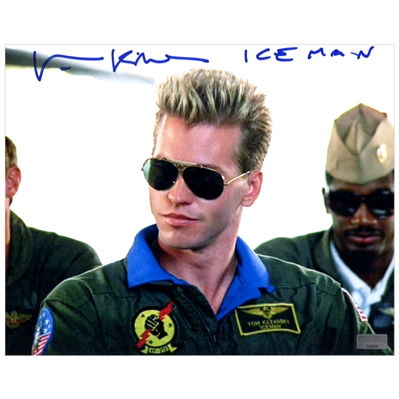 Val Kilmer Autographed Top Gun 8×10 Iceman Closeup Photo with Iceman Inscription