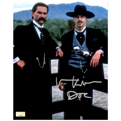 Val Kilmer Autographed Tombstone 8x10 Scene Photo with Doc Inscription