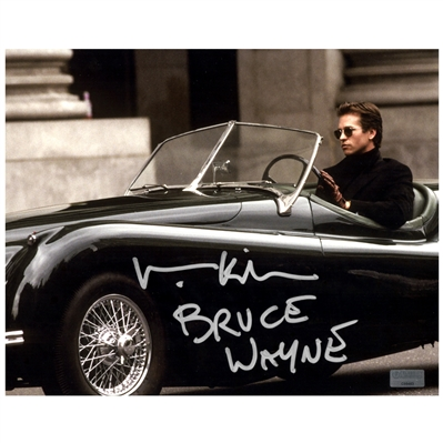 Val Kilmer Autographed 8×10 Cruising Photo with  Bruce Wayne Inscription