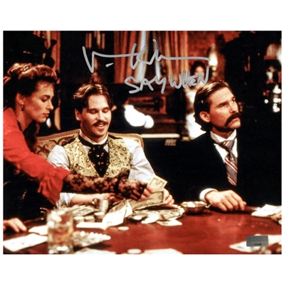 Val Kilmer Autographed 8×10 Tombstone Scene Photo with Say When Inscription