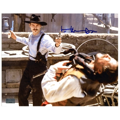 Val Kilmer Autographed Tombstone Doc Holliday OK Corral Gunfight 8×10 Photo with Doc Inscription
