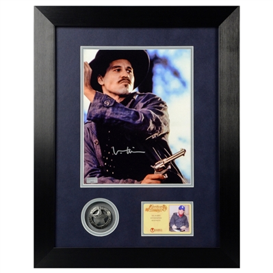 Val Kilmer Autographed 8×10 Tombstone Doc Holliday Framed Photo with Limited Edition Tombstone Collectors Pin