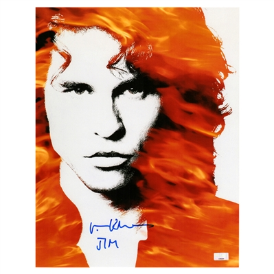Val Kilmer The Doors Autographed 11x14 Movie Artwork with Jim Inscription