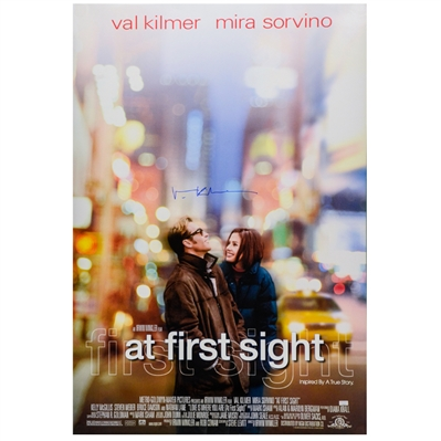 Val Kilmer Autographed 1999 At First Sight Original 27x40 Double-Sided Movie Poster