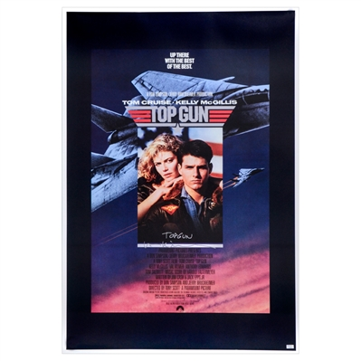 Val Kilmer Autographed 1986 Top Gun 27x40 Single-Sided Movie Poster