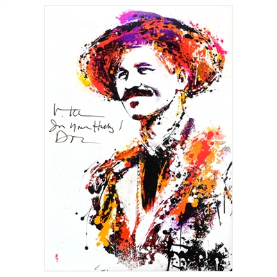 Val Kilmer Autographed Tombstone Doc Holliday 30x42 Canvas Giclee by Mike Ferrari with Im Your Huckleberry - Doc Inscription