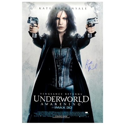 Kate Beckinsale Autographed 2012 Underworld: Awakening Selene Original 27x40 Double-Sided Movie Poster