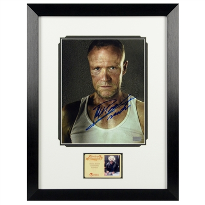 Michael Rooker Autographed The Walking Dead Merle 8x10 Framed Photo