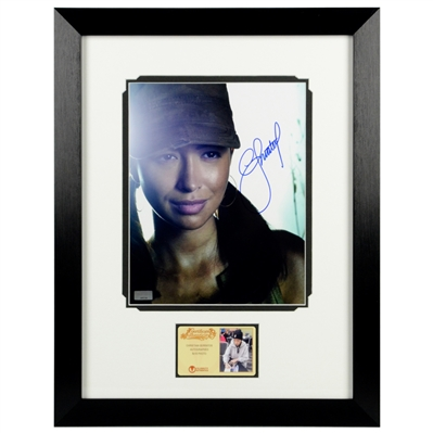 Christian Serratos Autographed The Walking Dead Rosita 8x10 Framed Photo
