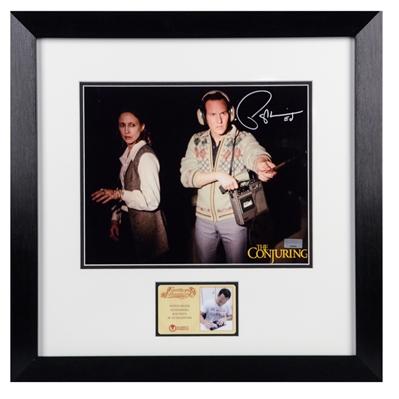 Patrick Wilson Autographed The Conjuring Ed and Lorraine Warren EVP 8x10 Framed Scene Photo