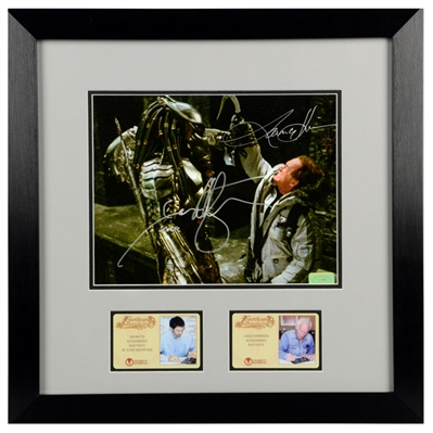 Lance Henriksen, Ian Whyte Autographed AVP: Alien vs Predator 8x10 Framed Photo