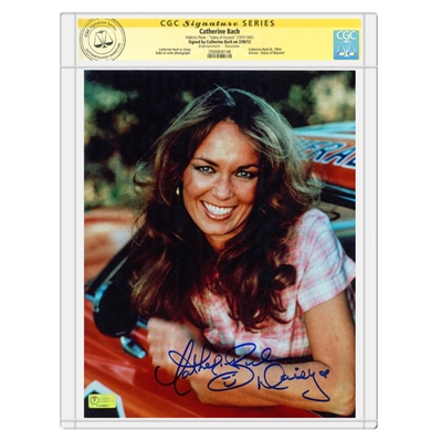 Catherine Bach Autographed The Dukes of Hazzard Daisy 8x10 Photo * CGC Signature Series