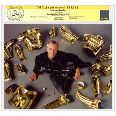 Anthony Daniels Autographed Star Wars C3PO Parts 8x10 Photo  * CGC Signature Series