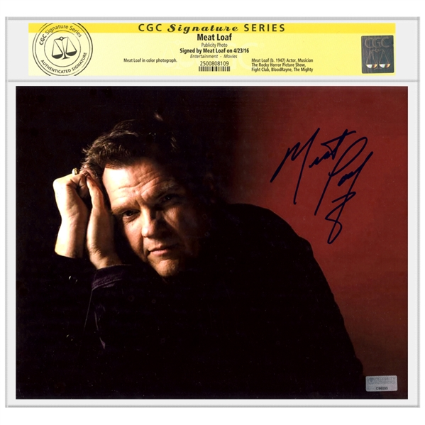 Meat Loaf Autographed 8x10 Portrait Photo * CGC Signature Series