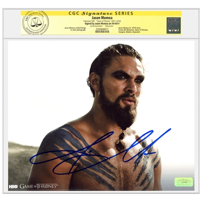 Jason Momoa Autographed Game of Thrones Khal Drogo 8x10 Photo * CGC Signature Series