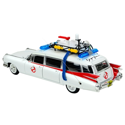 Sigourney Weaver Autographed Ghostbusters 1959 Cadillac Ambulance Ecto-1 1:18 Scale Die-Cast Car